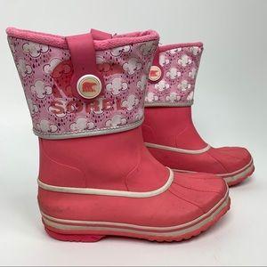 ❄️Sale❄️ Sorel Rainbou Rain Snow Boots Pink Size 6